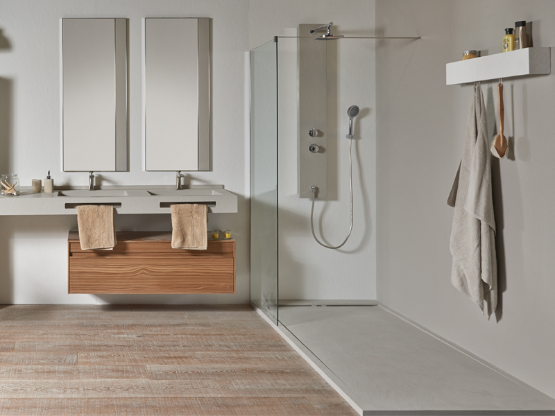 detailed look closer at clearance sale DUO SLATE | Shower trays | Acquabella