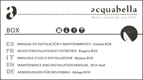 INSTALLATION MANUAL – BOX SHELF