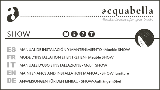 INSTALLATION MANUAL – SHOW FURNITURE