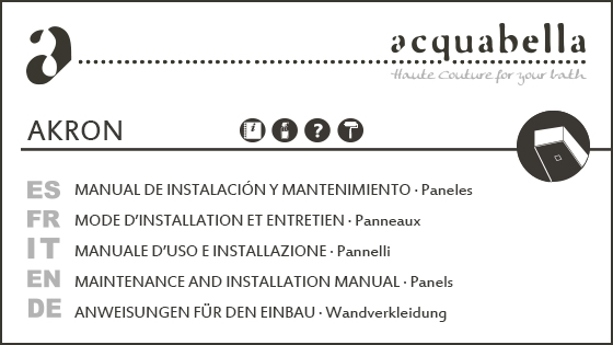INSTALLATION MANUAL – PANELS