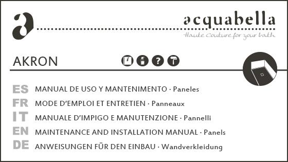 USE & MAINTENANCE MANUAL – PANELS