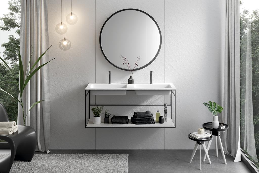 Lavabos dobles para compartir baño | Acquabella