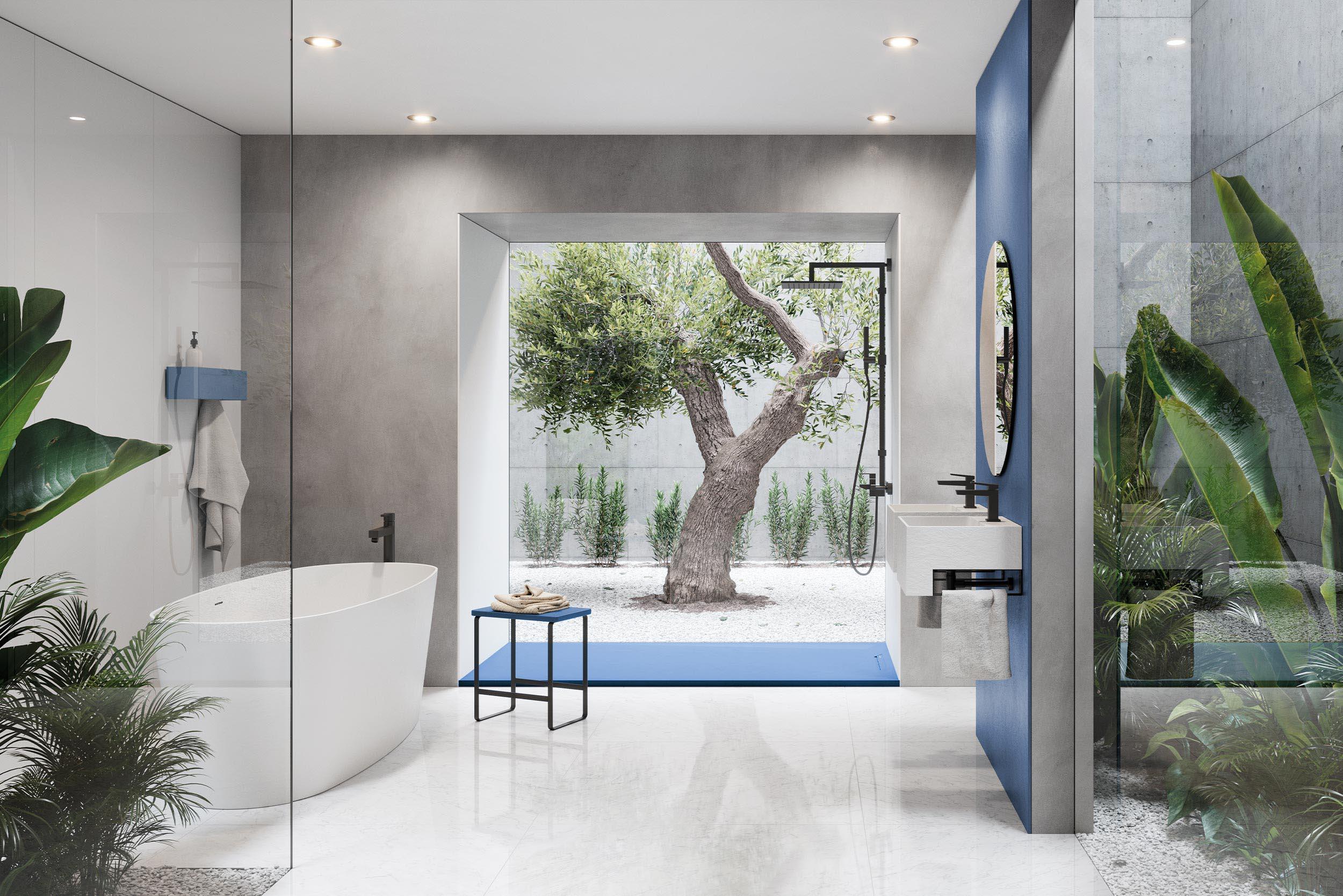 Mediterranean designs in the bathroom
